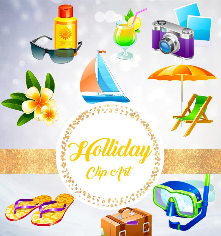 Summer Clipart, Summer Clip Art, Beach Clipart, Beach Clip Art.
