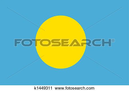 Clipart of Flag Of Palau k1449311.