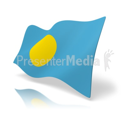 Flag Palau.