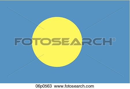 Clipart of palau flag 06p0563.
