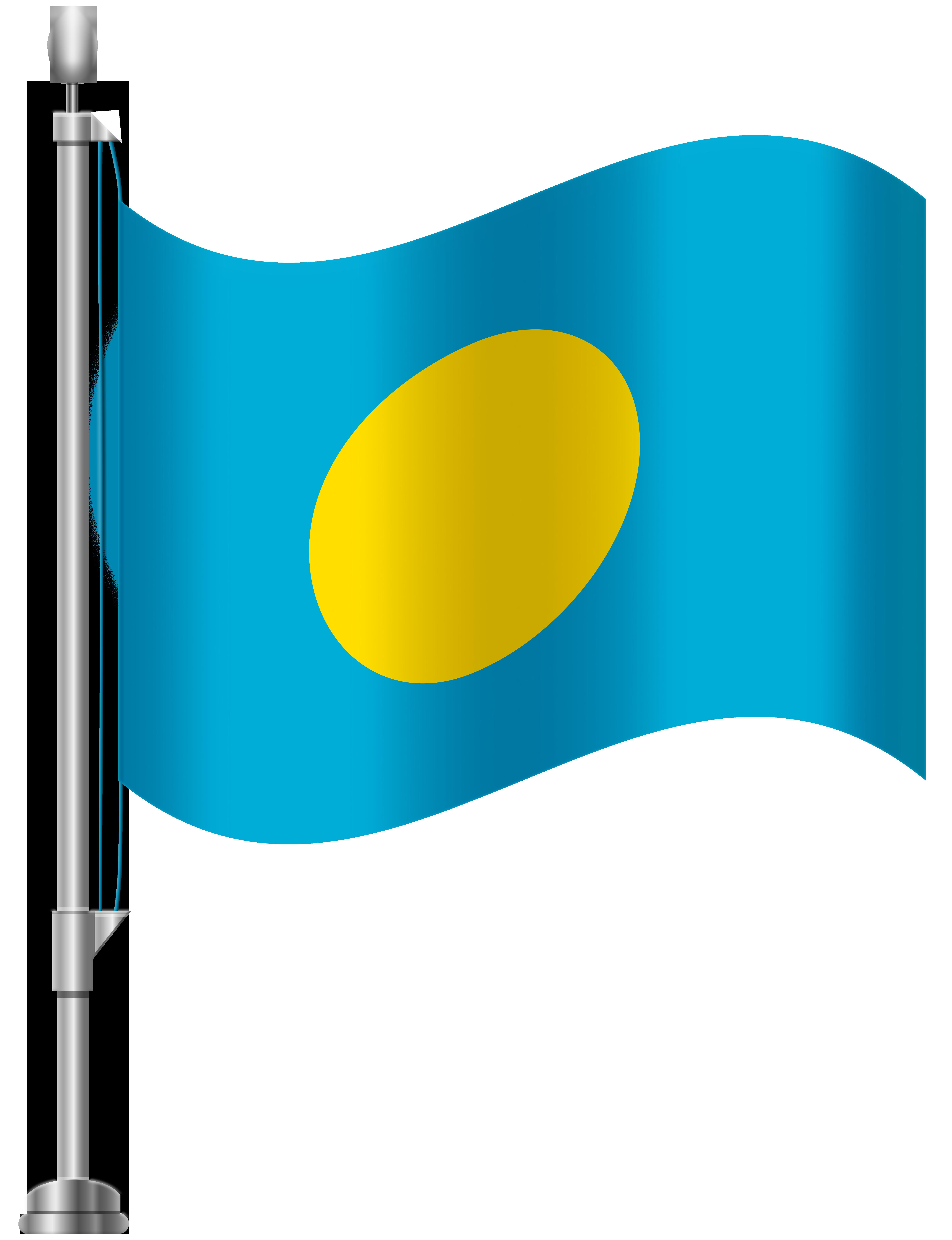 Palau Flag PNG Clip Art.