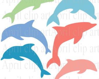 Dolphin clipart.