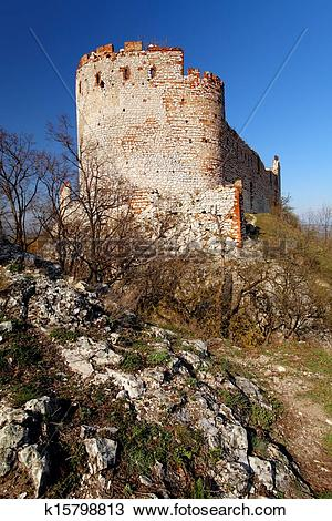 Stock Photo of Ruin of castle.