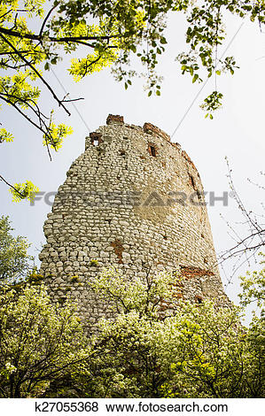 Pictures of Romantic ruin, Girls castle in Palava, Czech k27055368.