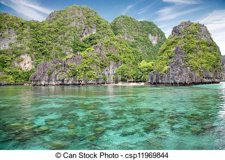 Stock Photo of Beautiful scenery in El Nido, Palawan, Philippines.
