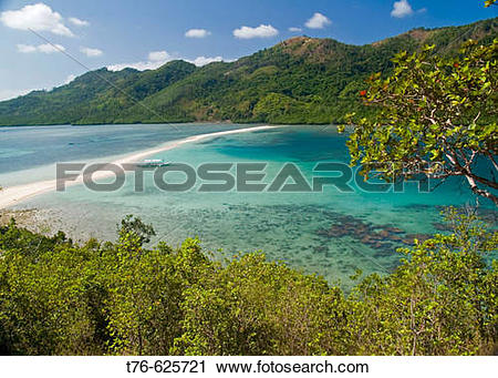 Stock Photography of tropical fantasy, beautiful Snake Island in.