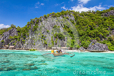 Palawan Philippines Stock Photo.