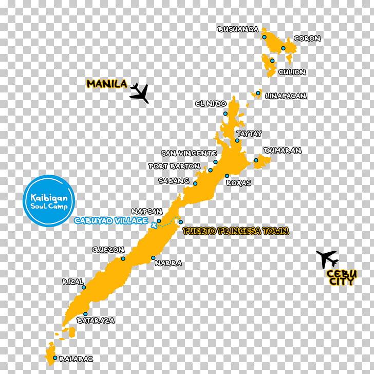 Kaibigan Soul Camp Palawan El Nido Coron Roxas Map, map PNG.