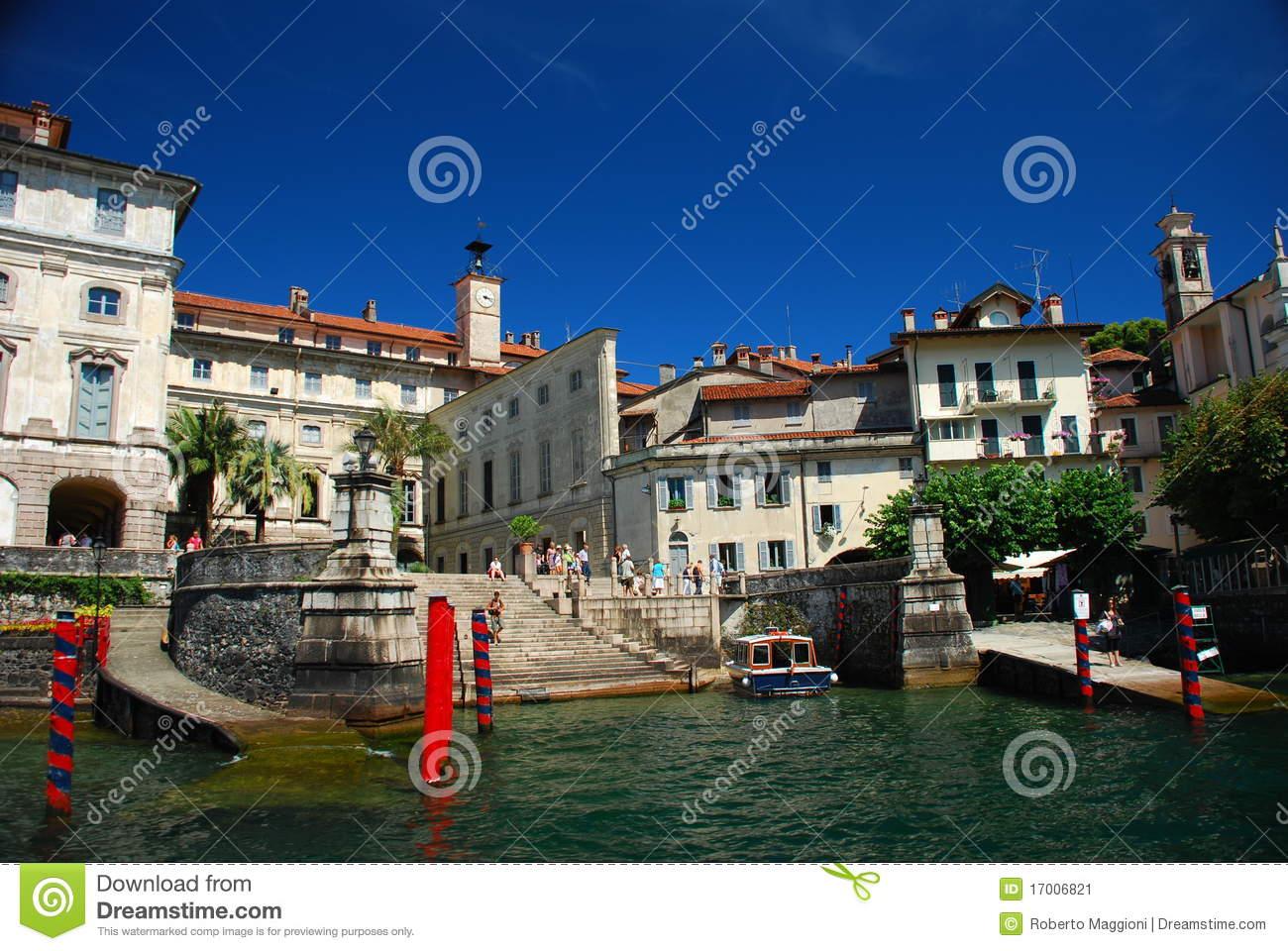 Isola Bella, Lake Maggiore. Borromeo Palace Stock Image.