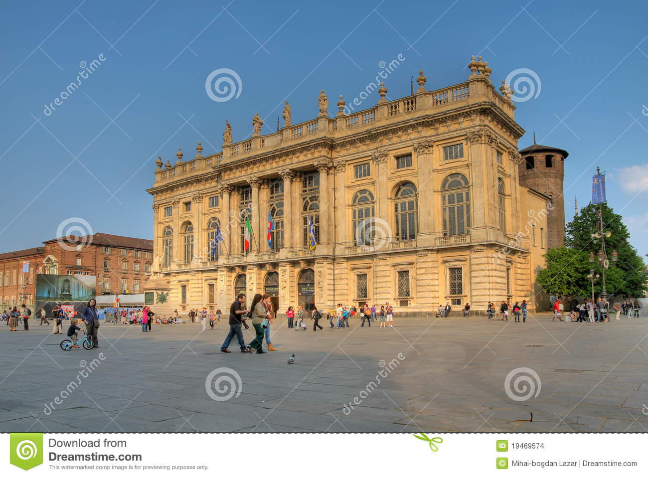 Palazzo Madama, Turin, Italy Editorial Stock Image.