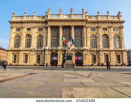 Palace Palazzo Madama Stock Photos, Royalty.