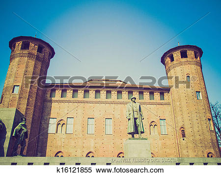 Stock Image of Retro look Palazzo Madama, Turin k16121855.