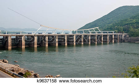 Pictures of Paldang dam k9637158.