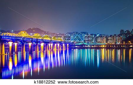 Stock Photo of Han river in Seoul k18812252.