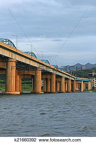 Stock Photo of Bridge on the Han River, Korea k21660392.