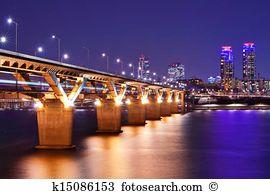 Han river bridge Stock Photo Images. 397 han river bridge royalty.