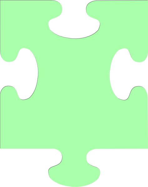 Jigsaw Piece Pale Green Clip Art at Clker.com.