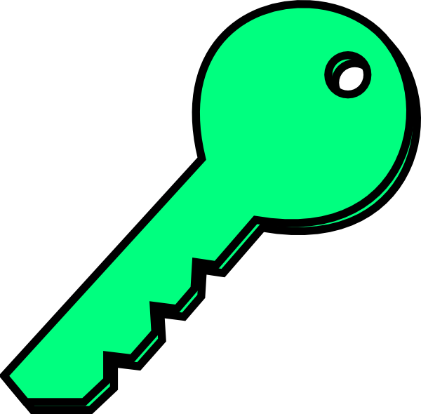 Pale Green Key Clip Art at Clker.com.