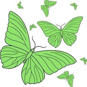 Butterflies Clipart Image.