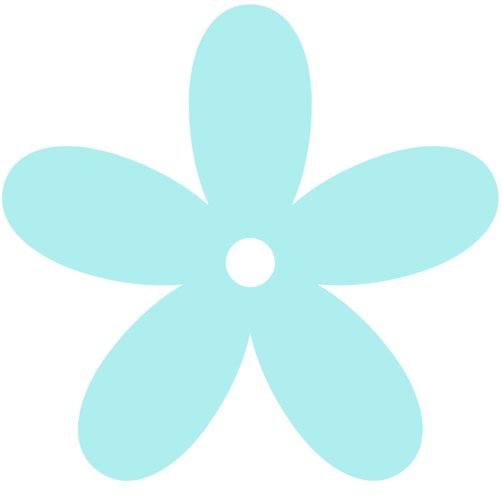 Turquoise Clip Art Flowers.