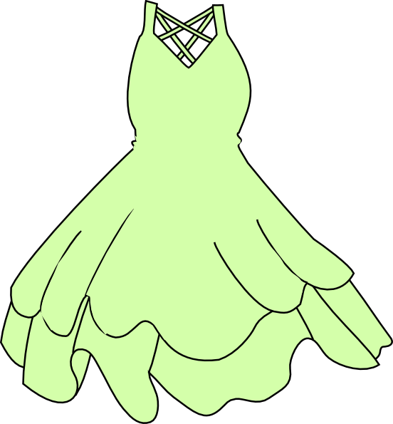 Pale Green Dress Clip Art at Clker.com.