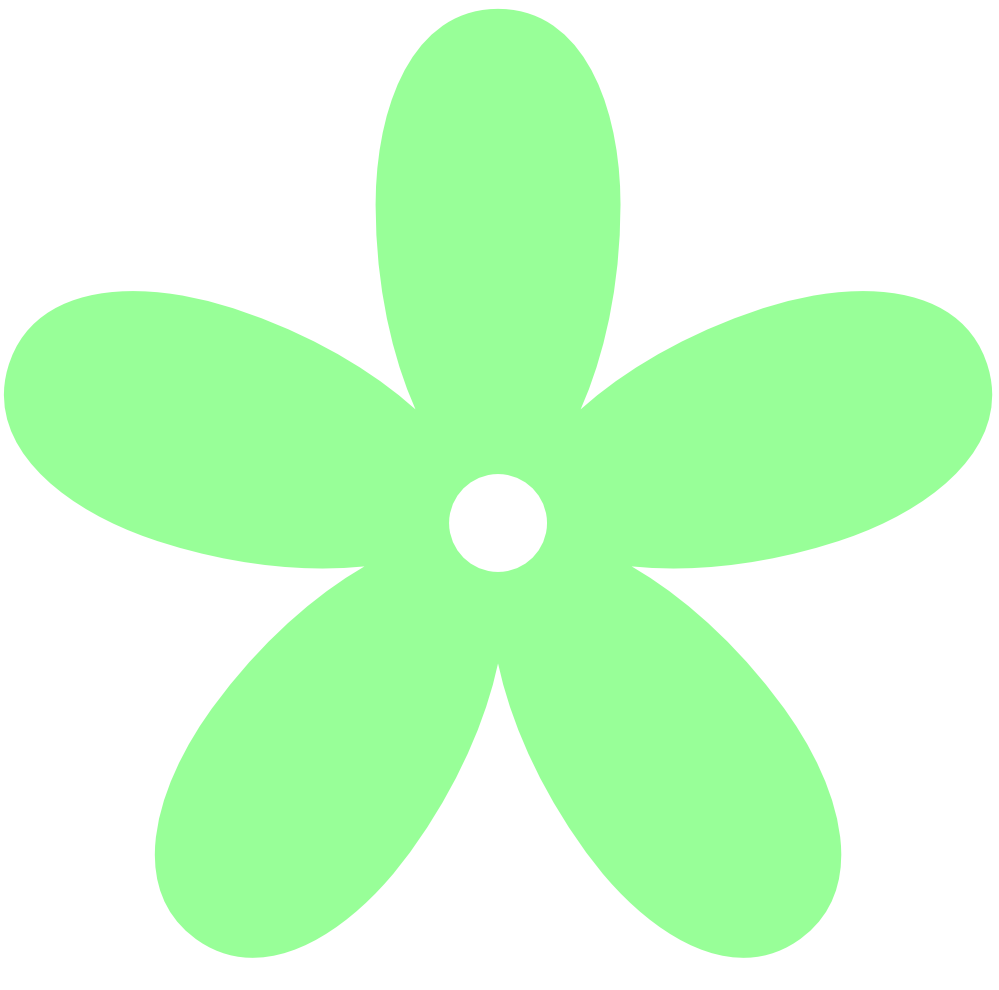 Mint Green And Peach Flowers Clipart.