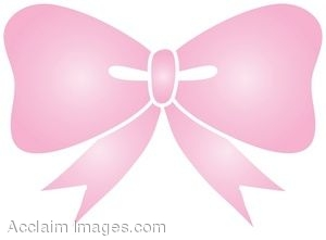 Clipart Illustration of a Pale Pink Bow.