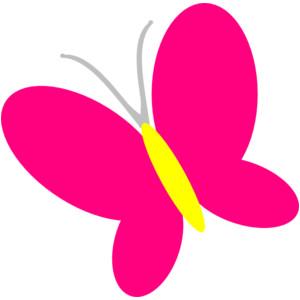 Light pink butterfly clipart.