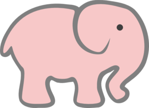 Pale Pink Elephant Clip Art at Clker.com.