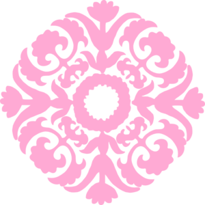 Pale Pink Damask Clipart.