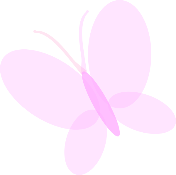 Pale Pink Butterfly Clip Art at Clker.com.