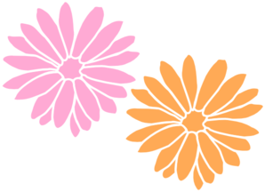 Light pink flower clip art.