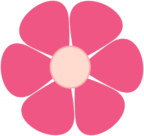 Pink Flowers Cartoon.
