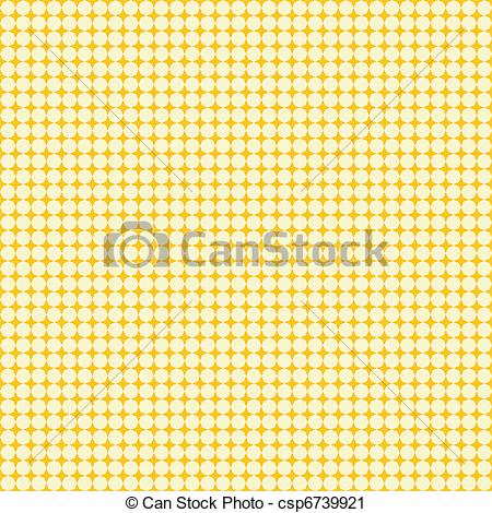 Vector Clip Art of Texture with pale yellow octagons.