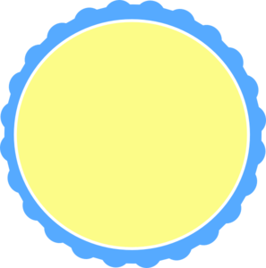 Light Blue & Pale Yellow Scallop Circle Frame Clip Art at Clker.