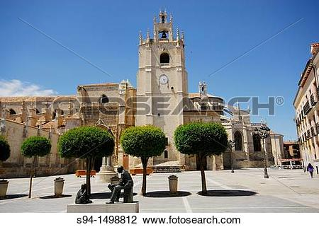 Stock Photo of Cathedral of San Antol?n in Palencia city, Spain.