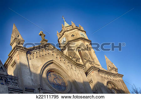 Stock Image of Catholic Church in the city of Palencia Spain.