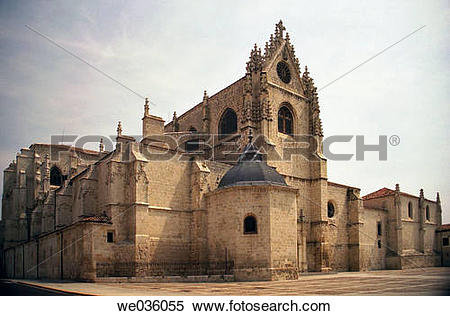 Stock Image of The Gothic Cathedral, Palencia, Castile.