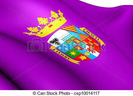 Clipart of Flag of Palencia Province, Spain Close Up csp10014117.