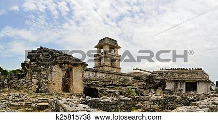 Pictures of The palace of ancient Mayan city Palenque k25815738.
