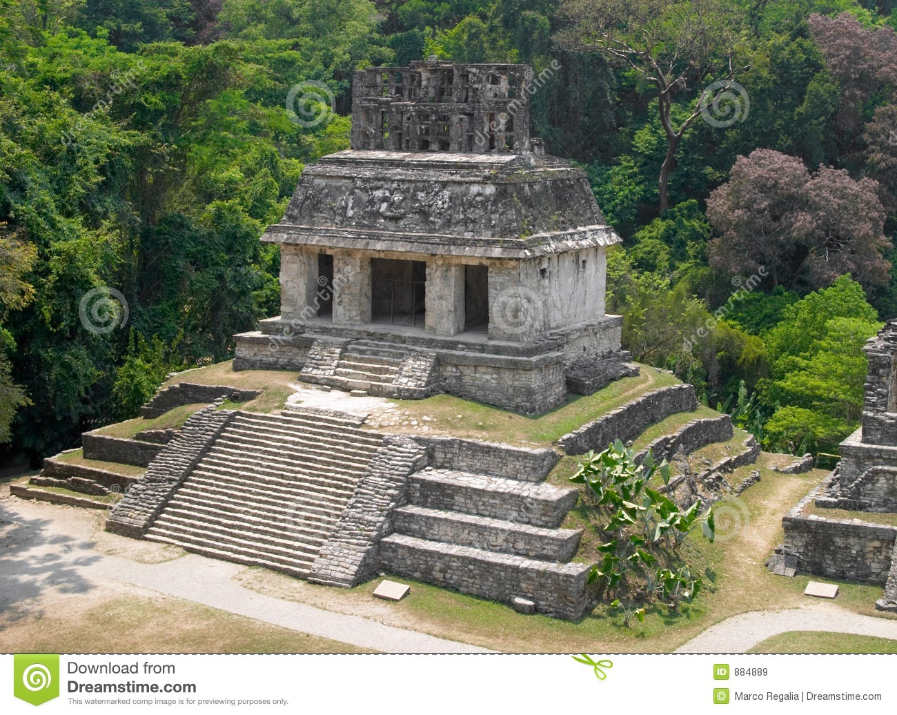 Palenque Archaeological Site, Mexico Royalty Free Stock Images.
