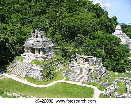 Stock Photo of Palenque mayan ruins maya Chiapas Mexico k3422082.