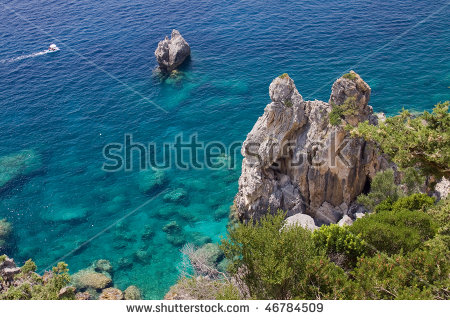 Paleokastritsa Corfu Stock Photos, Royalty.