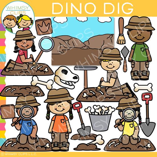 Dino Dig Clip Art.