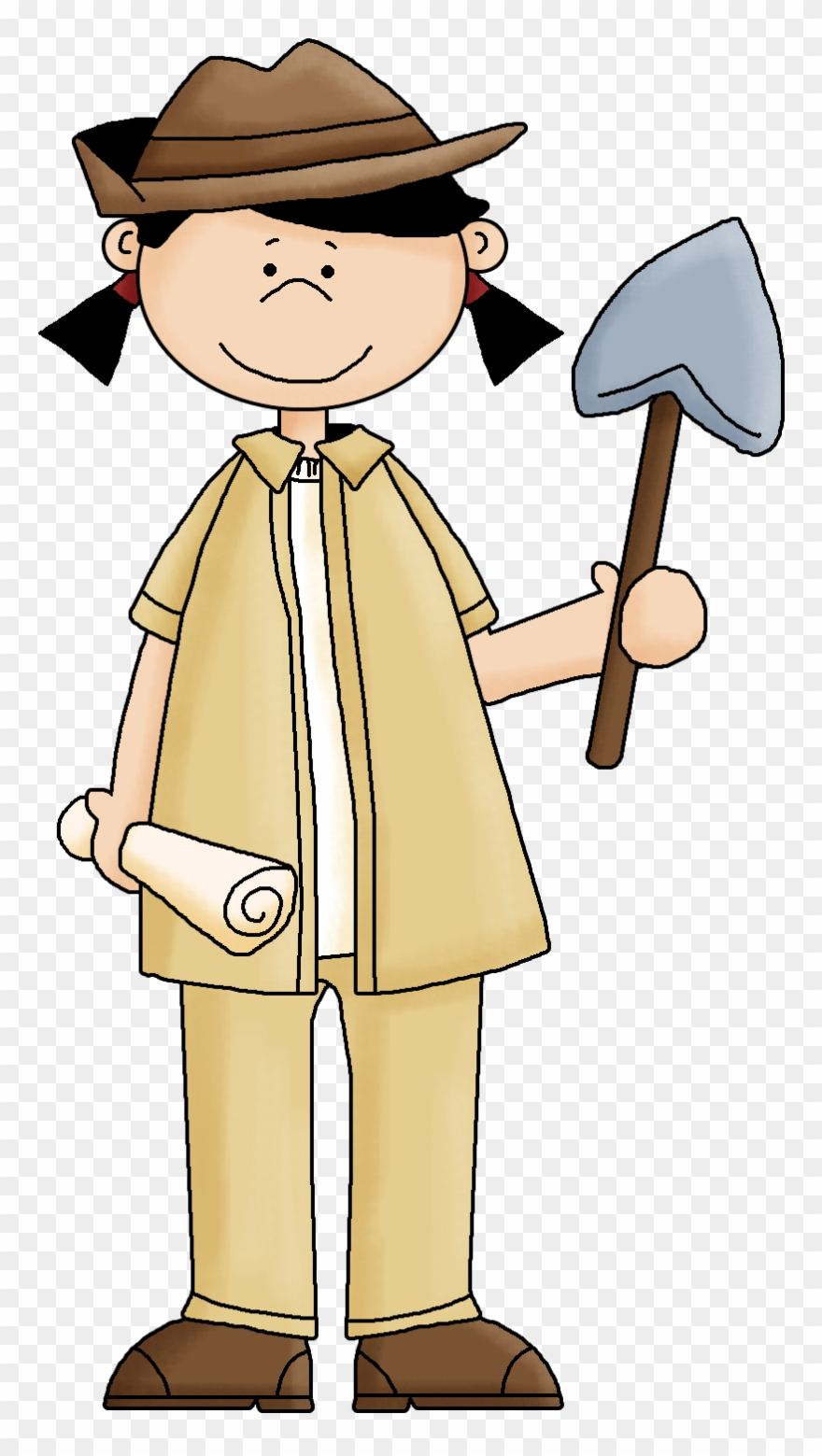 Archeology Girl Clipart.