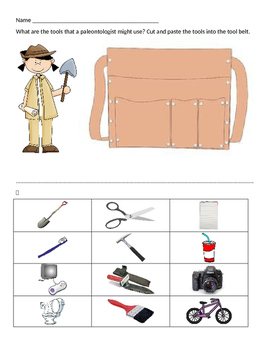 Paleontologist Tools Worksheets & Teaching Resources.