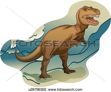 Clipart of vertebrate, dinosaur, reptile, paleontology.