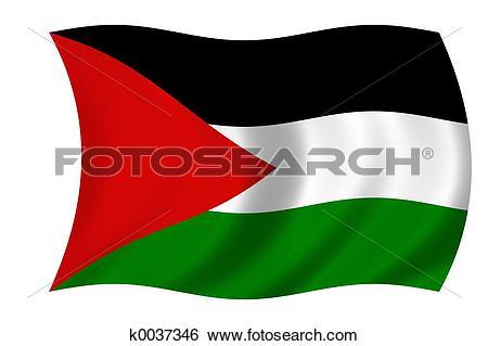 Stock Illustration of flag of palestine k0037346.