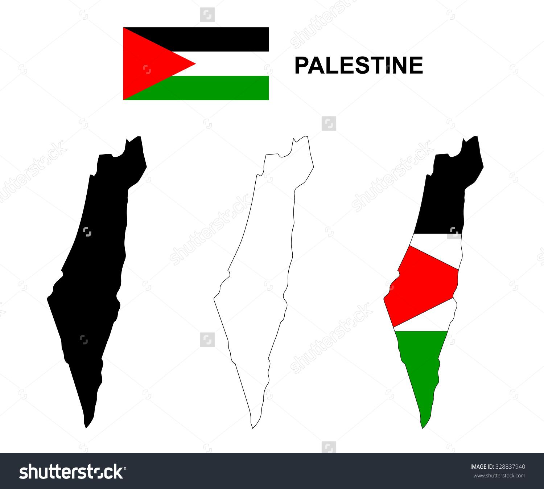 Palestine Map Vector Palestine Flag Vector Stock Vector 328837940.