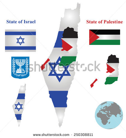 Palestinian Map Stock Photos, Royalty.